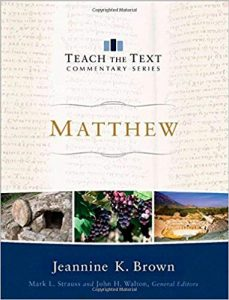 matthew bible commentary brown