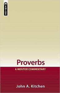 proverbs bible commentary kitchen cover