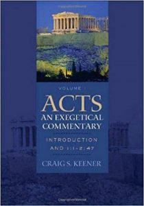 Acts commentary by Craig Keener