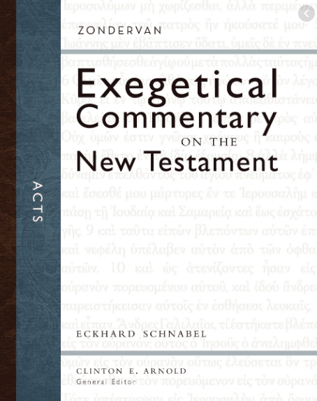 Acts commentary by Eckhard Schnabel