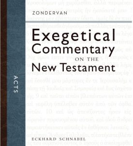 Acts Zondervan Exegetical Commentary