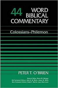 Colossians Philemon by Peter O'Brien