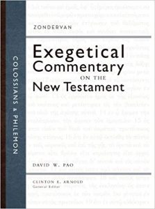 Colossians Philemon Zondervan Exegetical Commentary
