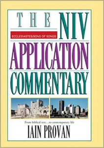 NIV Application Commentary Ecclesiastes Song of Solomon