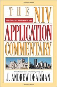 NIV Application Commentary Jeremiah Lamentations