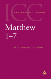 Matthew commentary by Davies and Allison