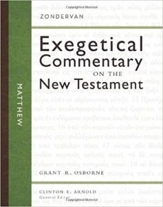 Matthew commentary by Grant Osborne