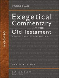 Obadiah Zondervan Exegetical Commentary