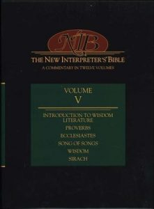 Proverbs New Interpreter's Bible Commentary