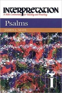 Psalms commentary by James Mays