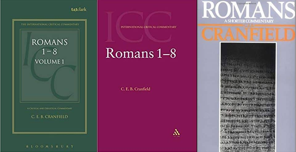 Romans commentary by C.E.B. Cranfield