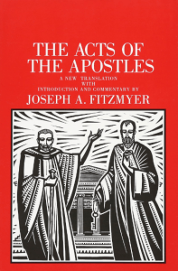 Acts commentary by Joseph Fitzmyer