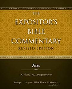 Acts commentary by Richard Longenecker