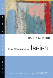 Isaiah commentary Barry Webb