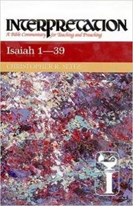 Isaiah commentary Christopher Seitz