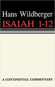 Isaiah commentary Wildberger