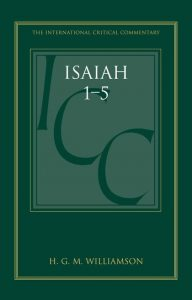 Isaiah commentary Williamson