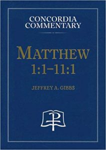 Matthew commentary by Jefferey Gibbs
