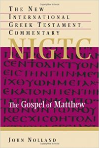 Matthew commentary by John Nolland