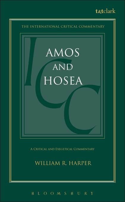 Amos commentary Harper