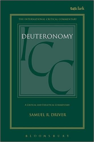 Deuteronomy commentary Driver